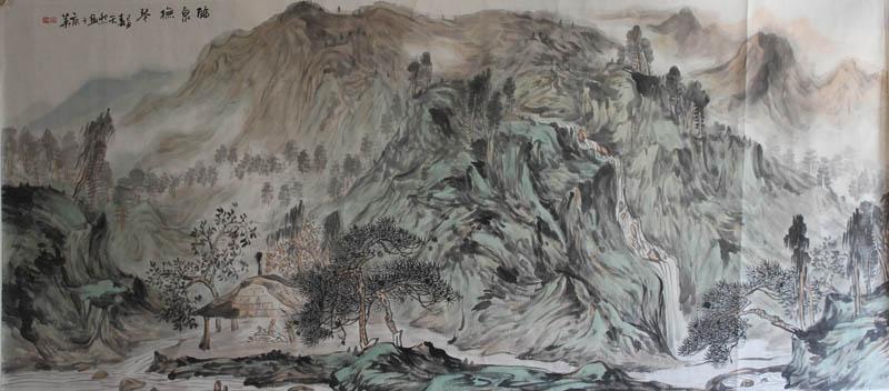 陈天然山水画作品