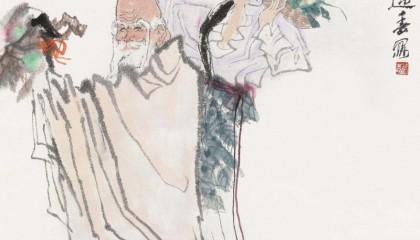 王迎春国画人物《仁者寿》