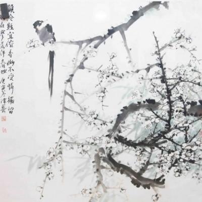 卢津艺国画花鸟作品