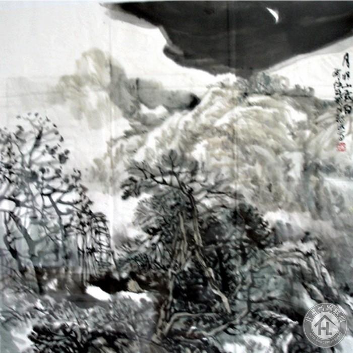 吴烈明国画作品《月明山露白》出版