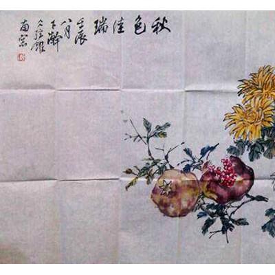 周兆颐国画花鸟作品