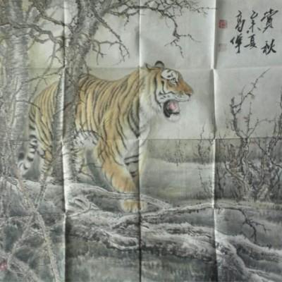 高伟国画老虎精品