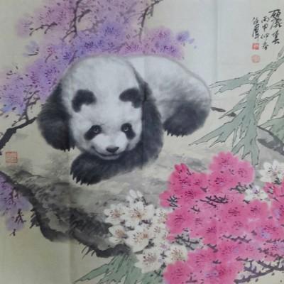 任伟熊猫作品《丽春》