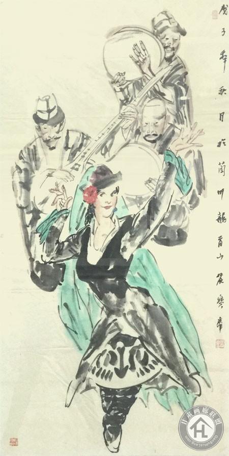 李宝峰四尺整张竖幅人物作品