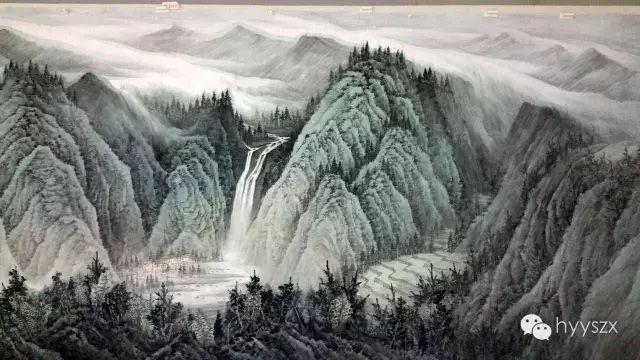 祝贺山水画大家曾先国为山东大厦青岛厅创作巨幅山水画《青岛揽胜图