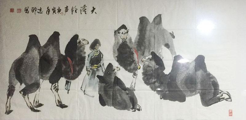 杨志印四尺整张横幅骆驼