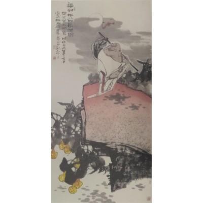 宣兵作品 《长乐图》 四尺竖幅