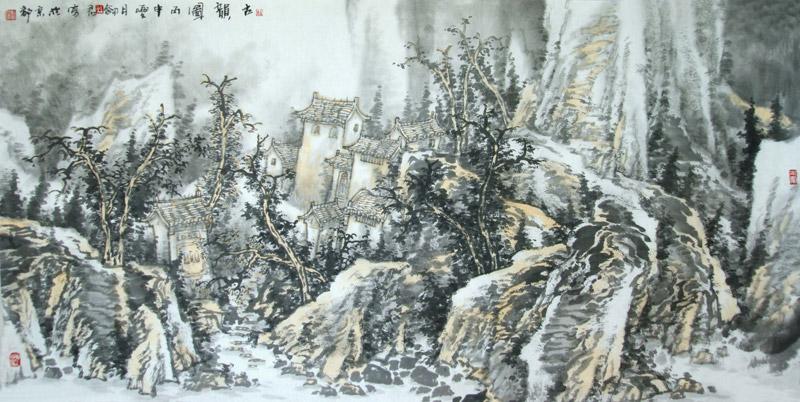 《三晋遗韵图》杜剑君136x68cm