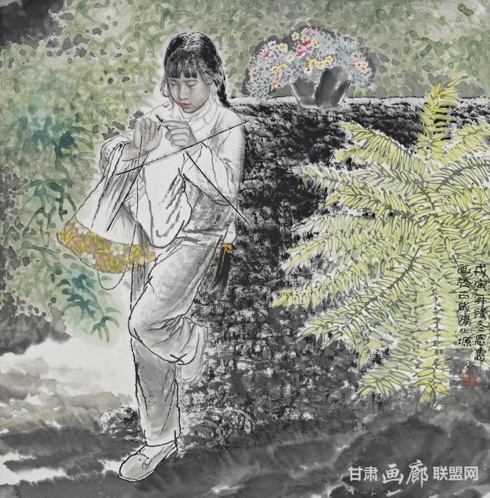 翠翠68cmX68cm 1990年 陈恩惠