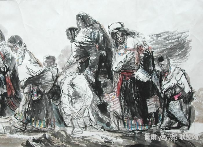 永恒的召唤局部二236x165cm 2002年 陈恩惠