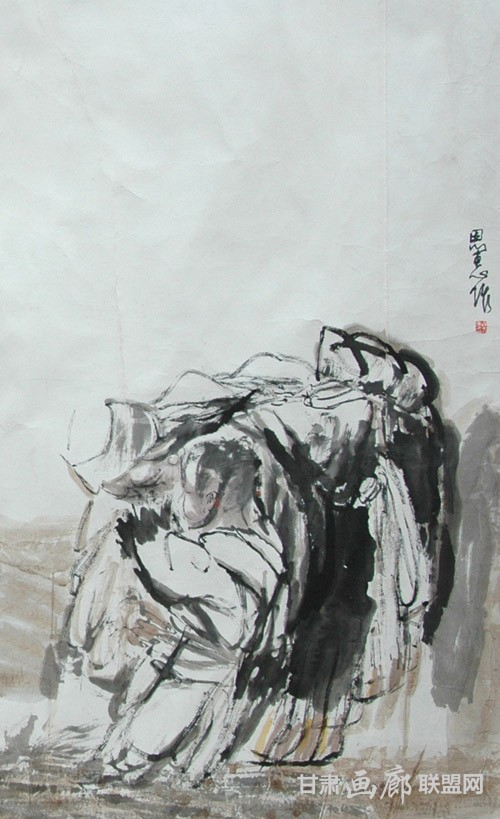 永恒的召唤局部三78x165cm 2002年 陈恩惠