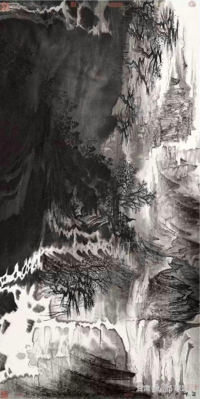 《行云流水两悠悠 》69x138cm 2014