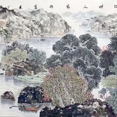 阮江华国画作品