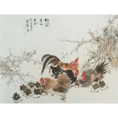 雷国艺国画作品