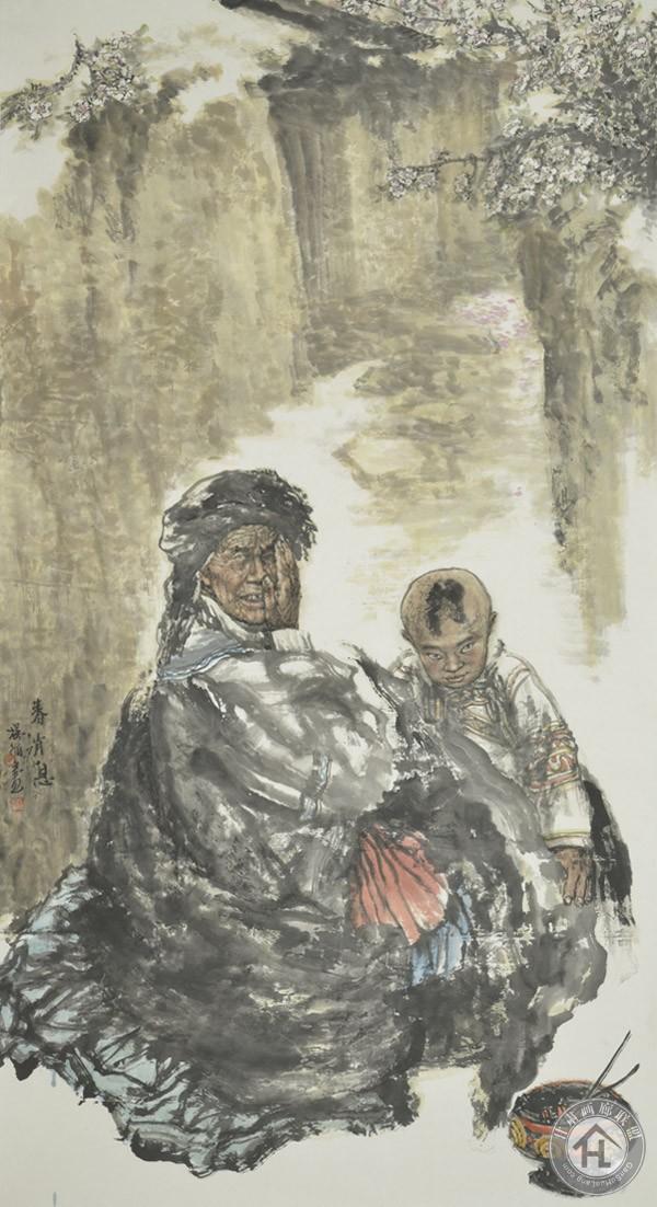 杨循作品《春消息》97x180cm