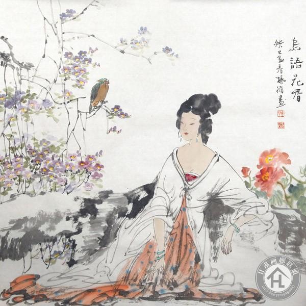 杨循作品《鸟语花香》