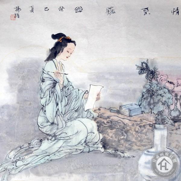杨循作品《情系藕丝》