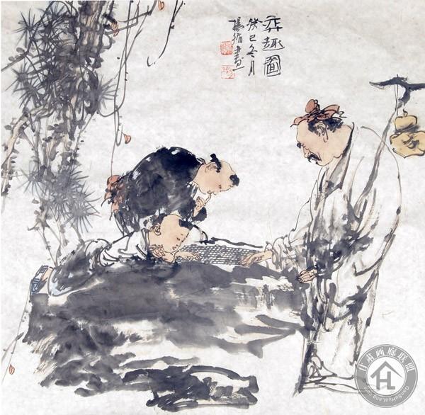 杨循作品《弈趣图》