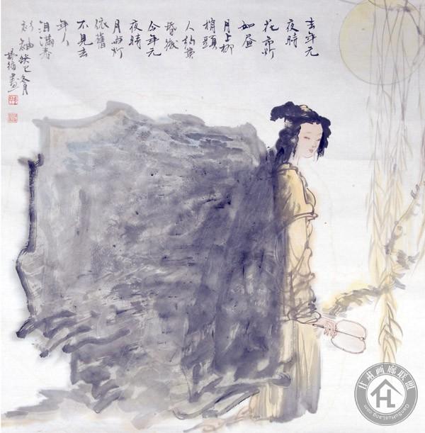杨循作品《月上柳梢》