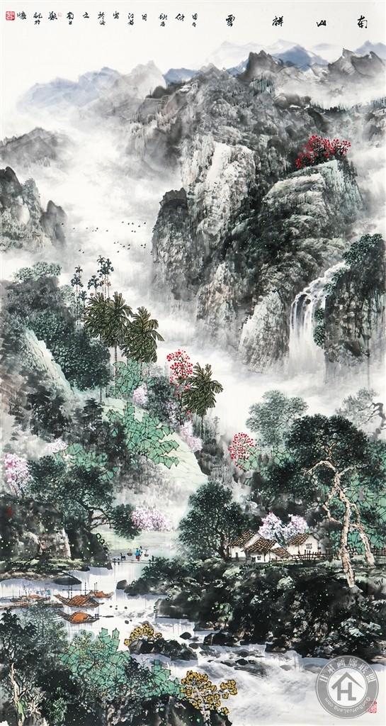 阮江华作品《南山祥云》 97×180cm