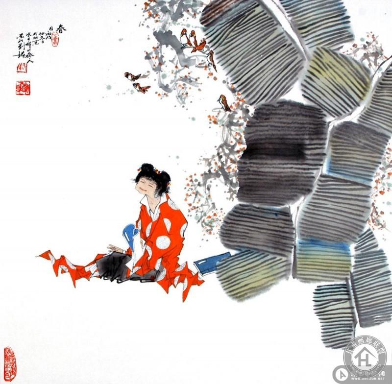 刘铭作品 春日