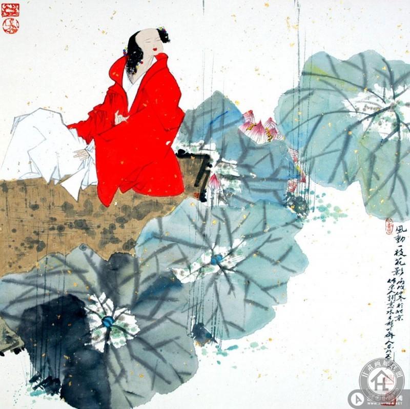 刘铭作品 风动一枝花影