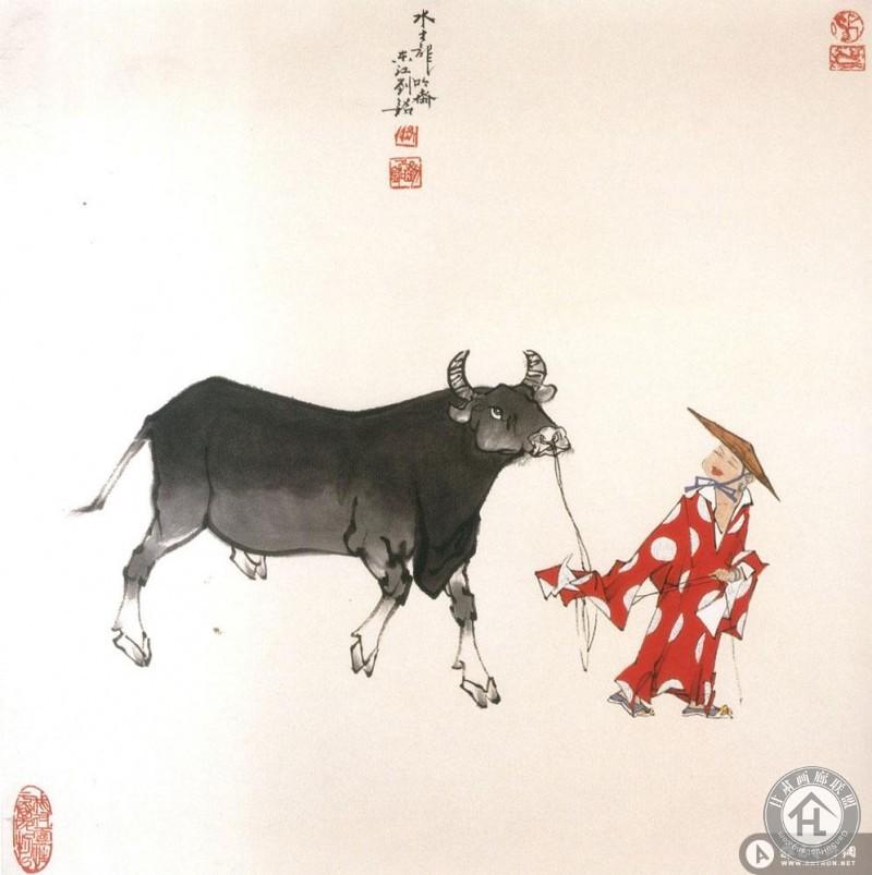 刘铭作品 牧牛