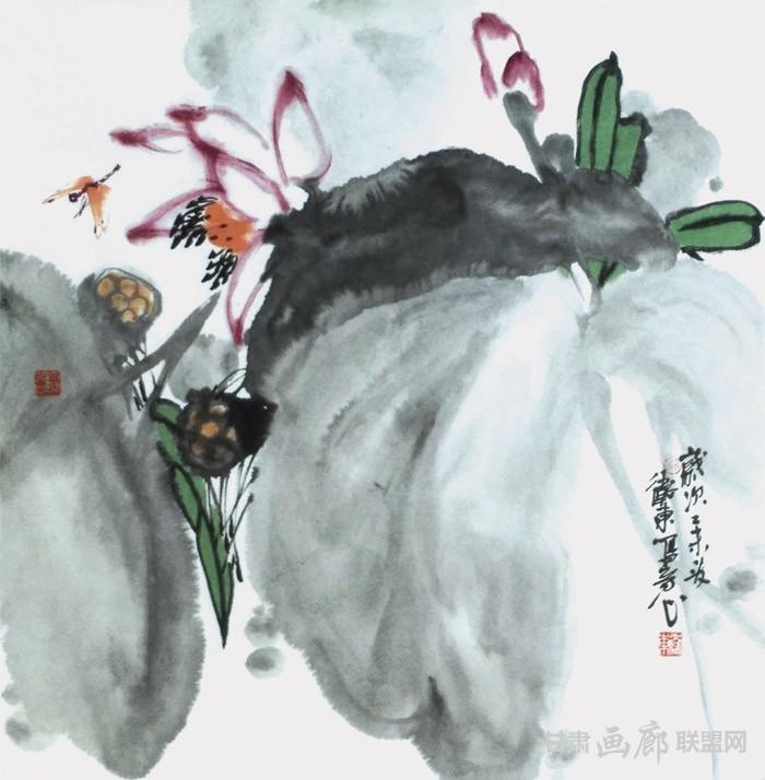 杨卫东花鸟画作品
