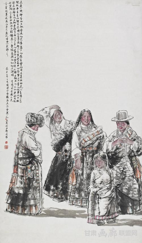 五朵金花98x198cm 2010年 陈恩惠