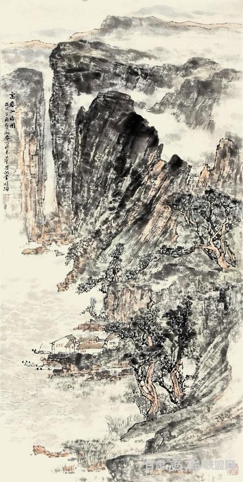 富春山居图-138X68CM 秦明强