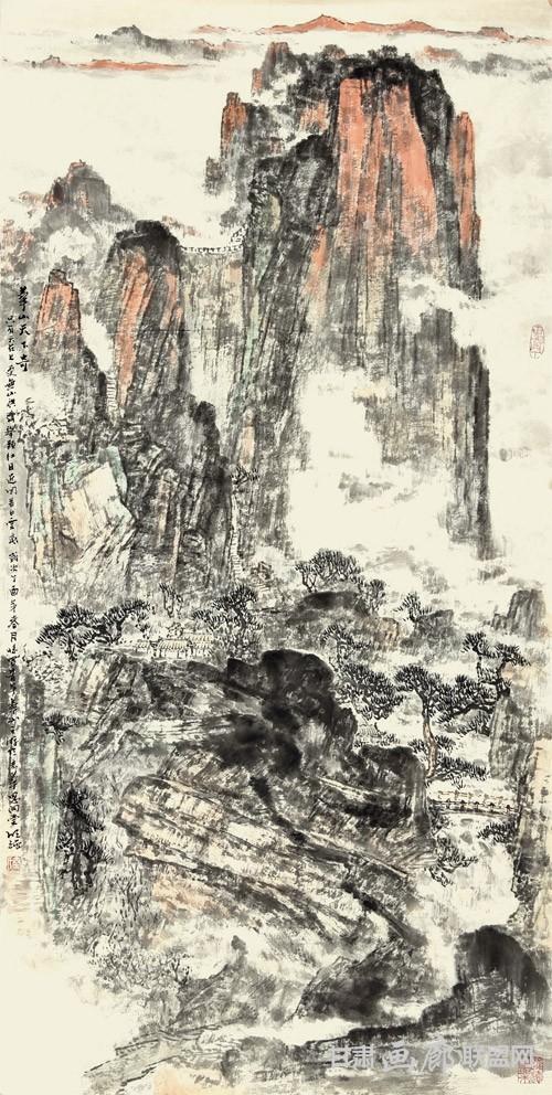 华山天下奇-138X68CM 秦明强