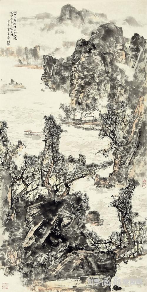 湘山千岭--138X68CM  秦明强