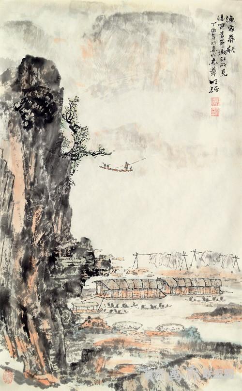 渔家春秋-68.5X43CM  秦明强