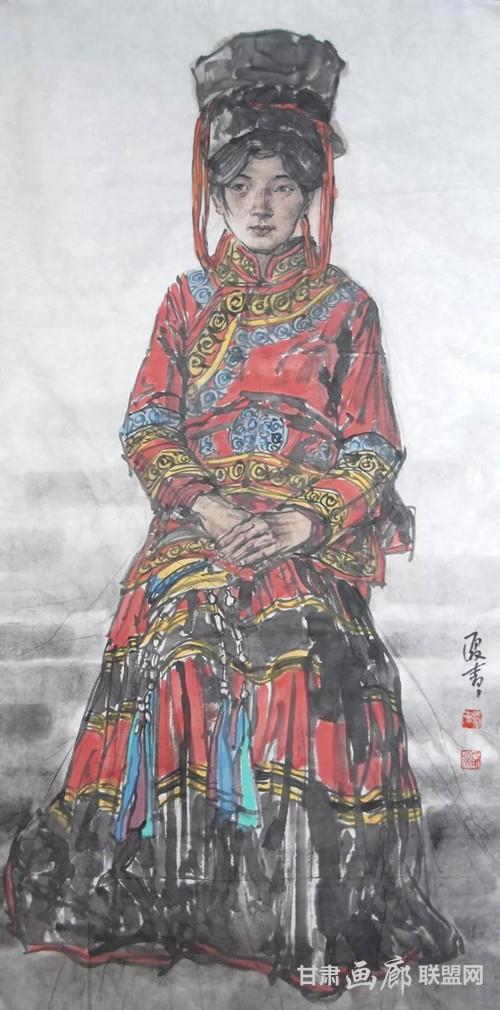 大凉山普格写生1  136x68cm  2018年