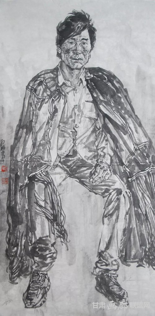大凉山普格写生3  136x68cm  2018年