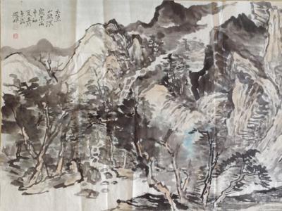 张耀明 国画山水 四尺横幅