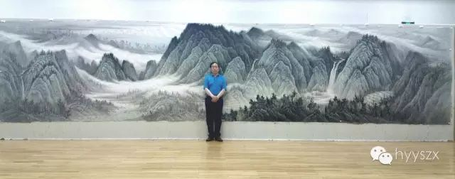 祝贺山水画大家曾先国为山东大厦青岛厅创作巨幅山水画《青岛揽胜图》圆满成功