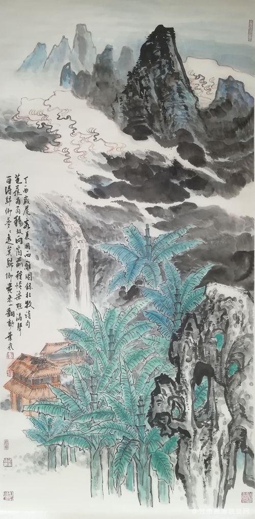 叶岚作品 芭蕉为雨移