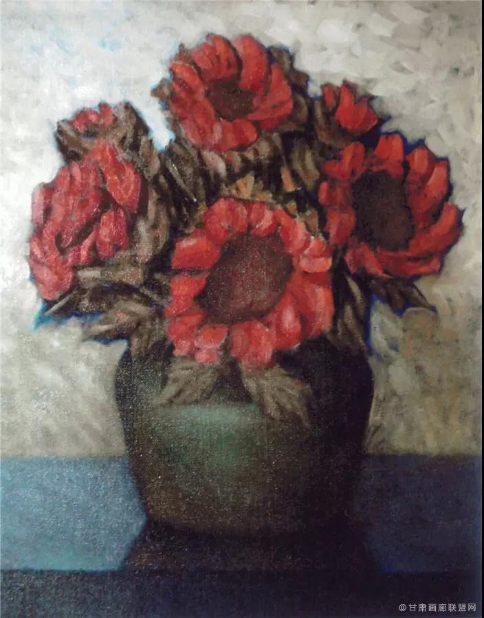 油画《向日葵》65×50cm