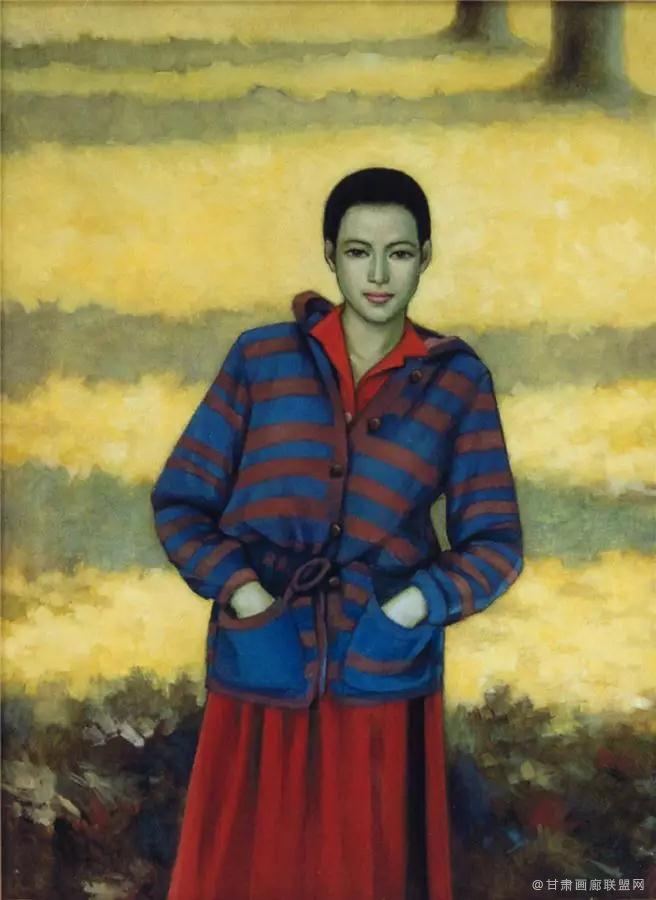 油画《秋天的记忆》130×97cm