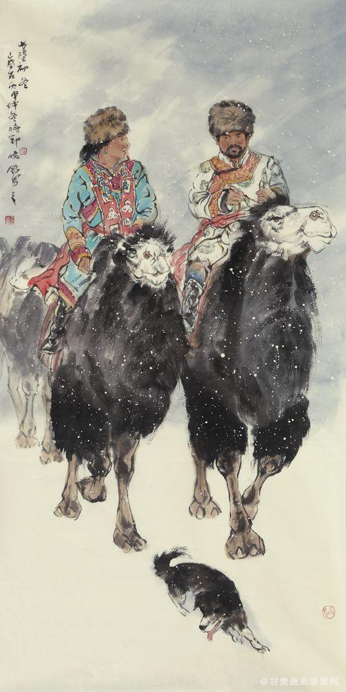 王晓银作品《戈壁初冬》