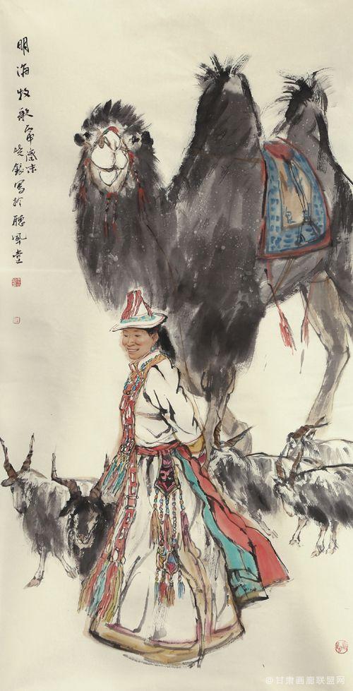 王晓银作品《明海牧歌》