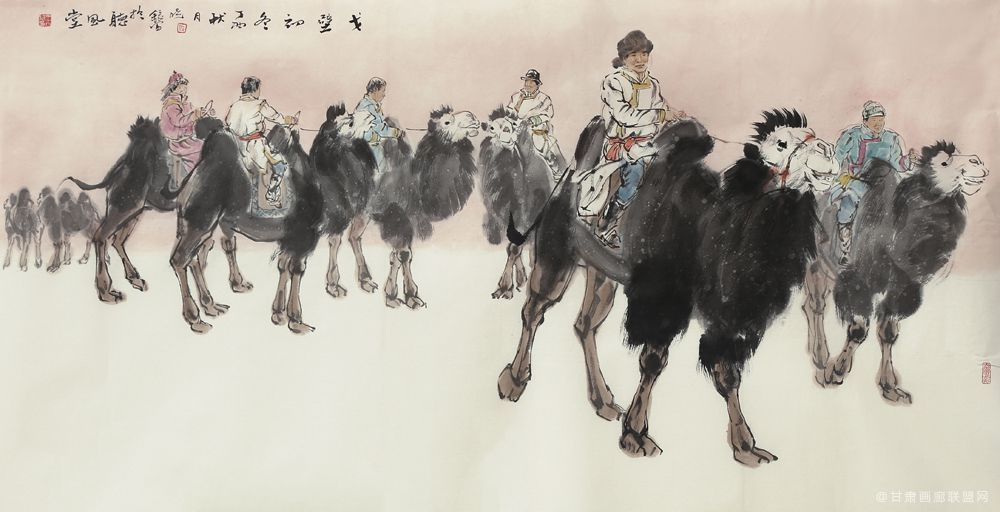 王晓银作品《戈壁初冬》 (2)
