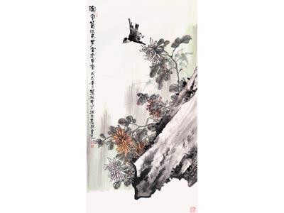 仲中晓花鸟画作品