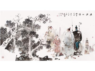 王巨亭人物画作品《逸兴雅怀》