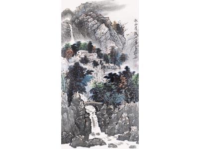 徐良发山水画作品《秋水清流》