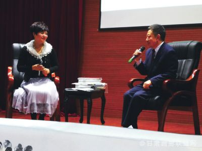 """王作宝做客金城文化沙龙 畅谈漫漫丝路""""骆驼""""文化"""