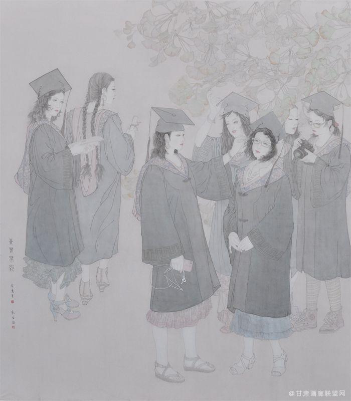 《青春有约》190X-170cm,丹青扬州优秀奖(最高奖)金惠华(合作)