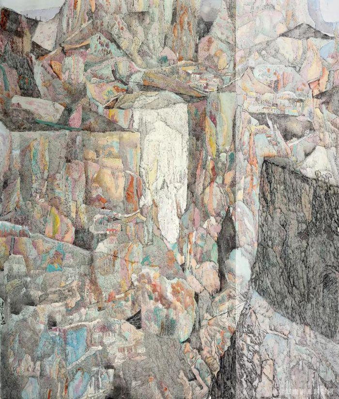 绚-入选-壮美内蒙古第十届中国西部大地情中国画油画作品展 于建华作品