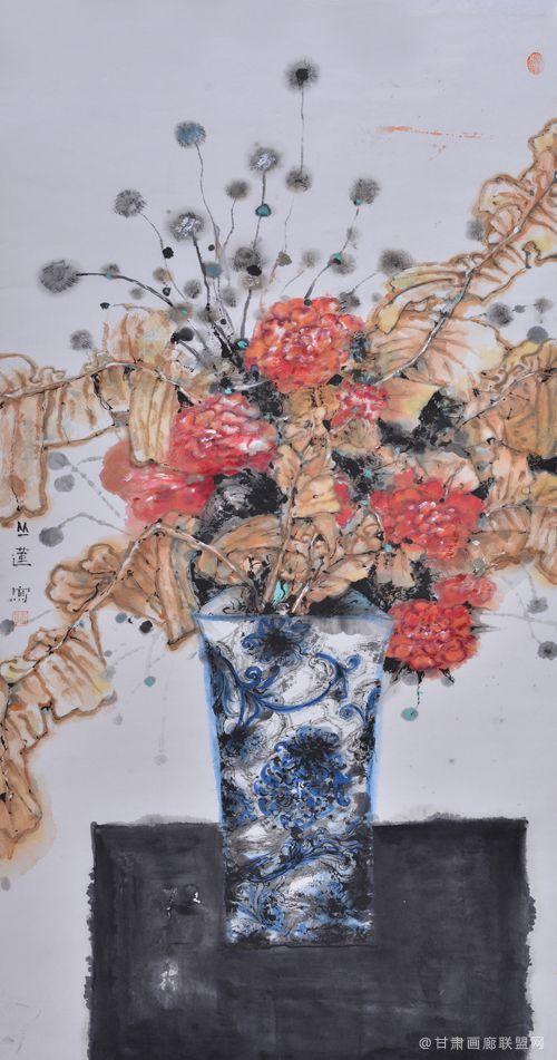 花影系列之一 丛莲作品